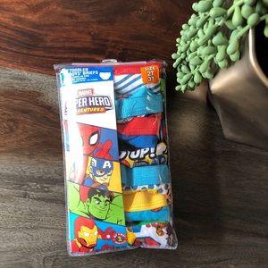 Marvel superhero toddler briefs